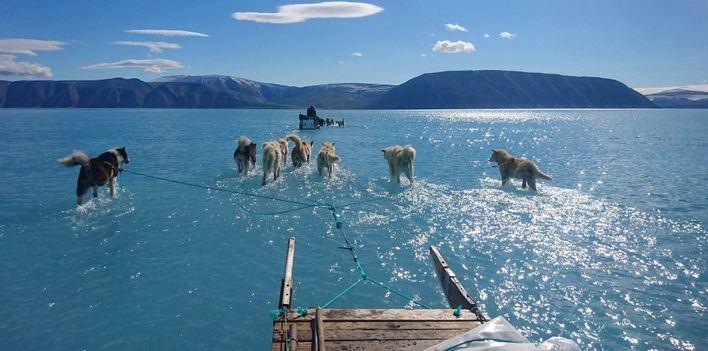 El calentamiento global derrite Groenlandia