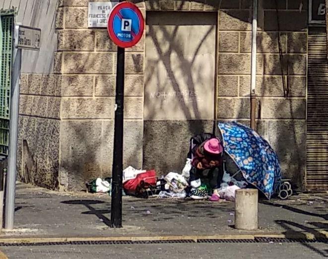 Ana, la indigente de Pere Garau, permanece ingresada en el área de psiquiatría de Son Llàtzer