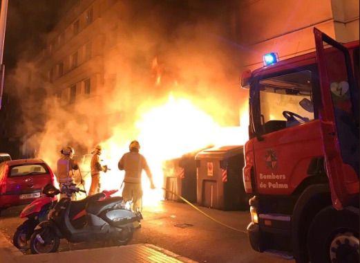 Nueva quema de contenedores en Palma en dos incendios ocurridos de madrugada