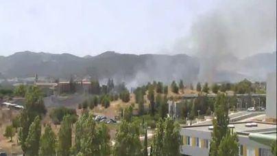 Incendio agrícola junto al Monasterio de la Real