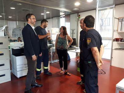 Primera toma de contacto de Hila con Bomberos y Policía de Palma