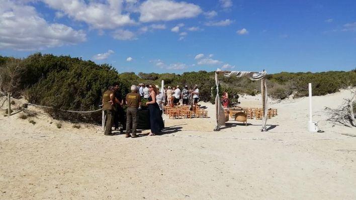 Abren expediente sancionador por la boda en el Parque Natural de Es Trenc