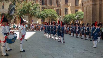 Relevo de la Guardia de Honor frente a la Almudaina