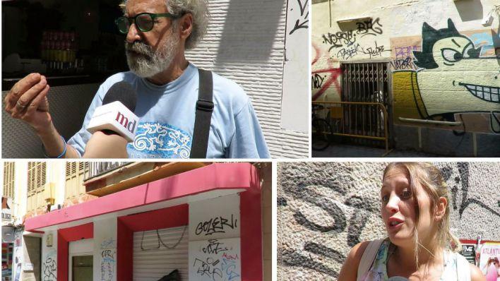 """La calle censura las pintadas vandálicas de Palma: """"Es terrorismo ciudadano"""""""