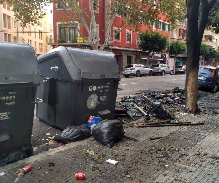 Nueva quema de un contenedor en Palma