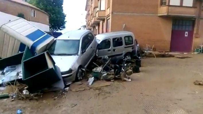 Un muerto en Navarra tras ser arrastrado en las inundaciones
