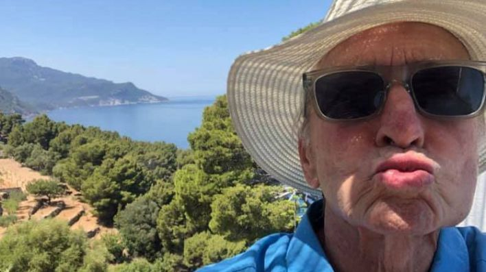 Michael Douglas celebra sus 30 años de idilio con Mallorca