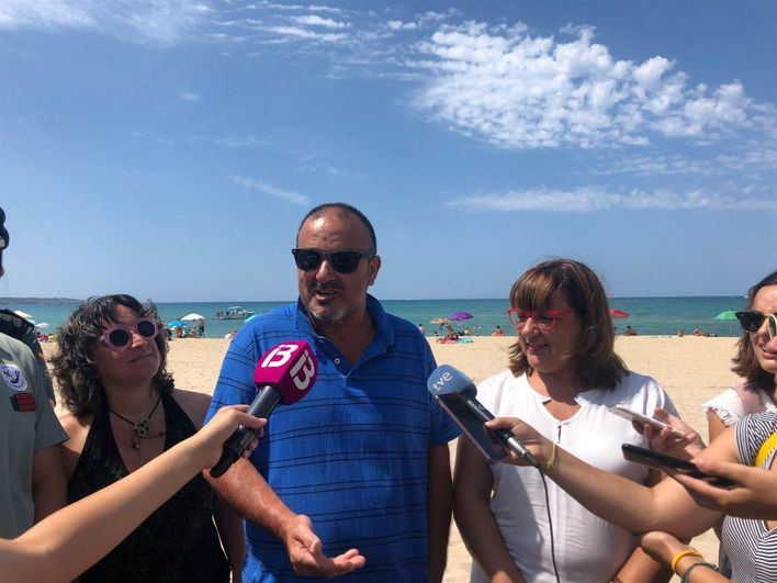 Un vecino halla un barco de la época romana hundido a escasos metros de Playa de Palma