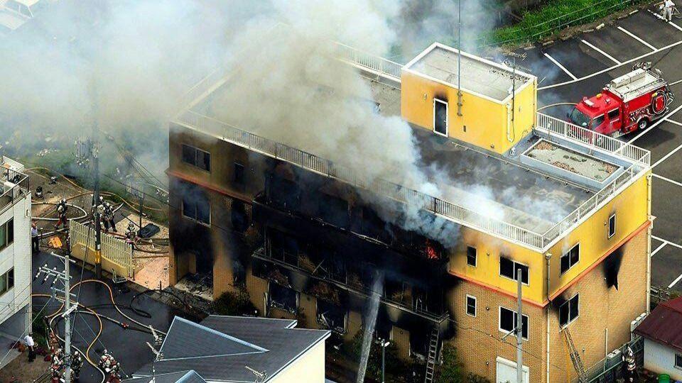 Mueren 10 personas en un incendio de un estudio de animación en Japón