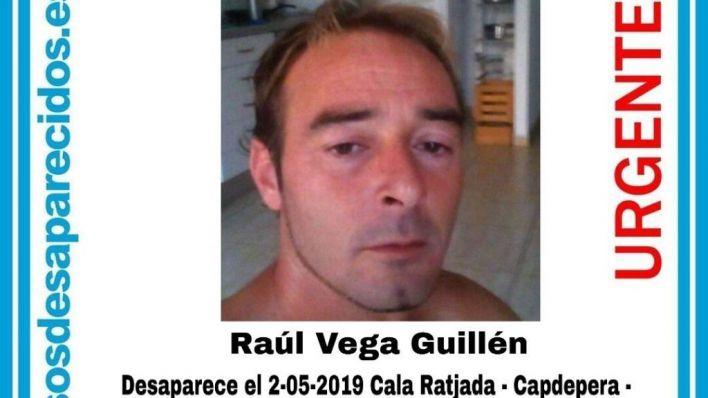 Buscan a Raúl Vega, desaparecido en Cala Rajada desde mayo