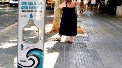Instalan la primera fuente de agua potable filtrada en la plaça del Mercat de Palma