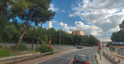 Cierran en ambos sentidos los accesos a la autopista de Andratx desde Cala Major