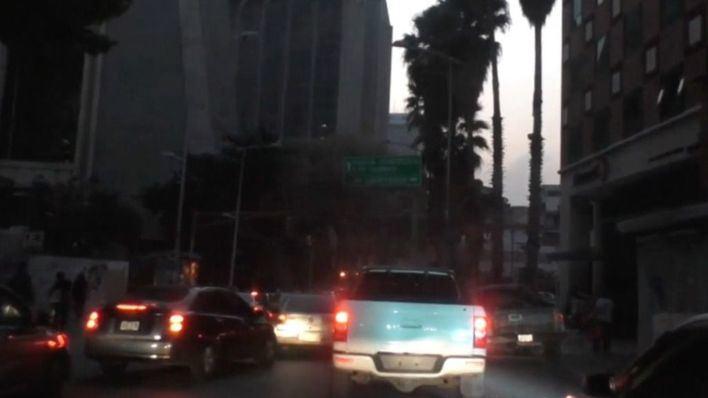 Foto de archivo de un anterior apagón en Venezuela