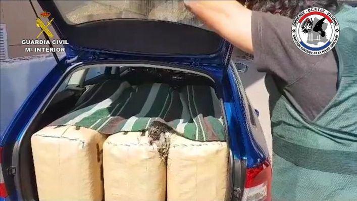 Cae un grupo de narcotraficantes muy peligroso y violento al que intervienen 2.400 kilos de hachís