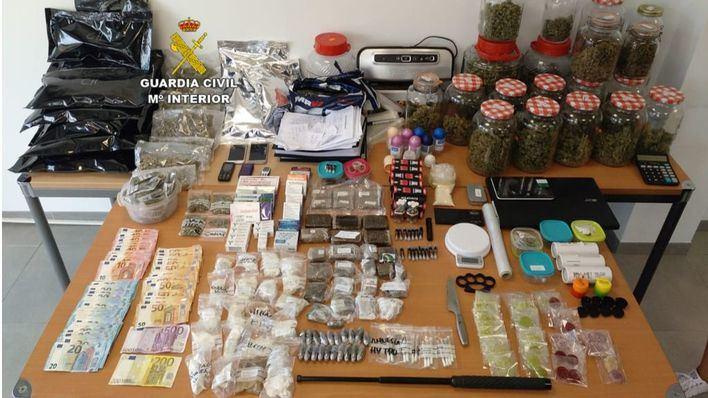 Operación de la Guardia Civil contra el tráfico de drogas en Magaluf