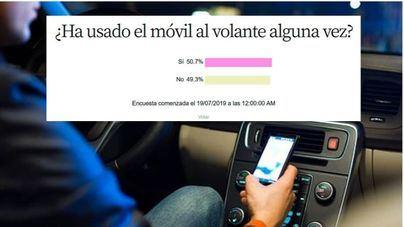 El 49 por cien de lectores asegura no usar el móvil al volante