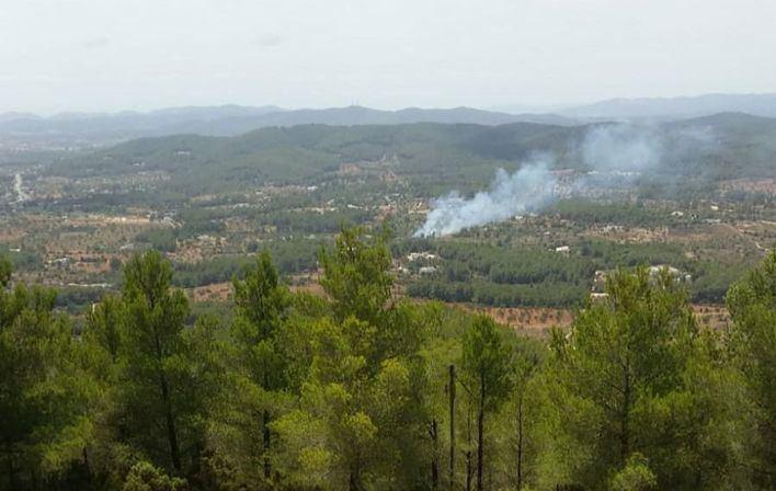 Alarma por un incendio en una zona forestal en Ibiza