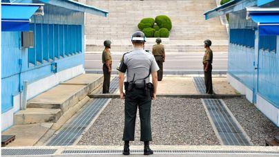 Frontera entre Corea del Norte y Corea del Sur.