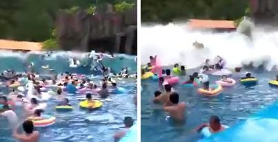 Un fallo técnico crea una ola tsunami en un parque acuático y deja 44 heridos