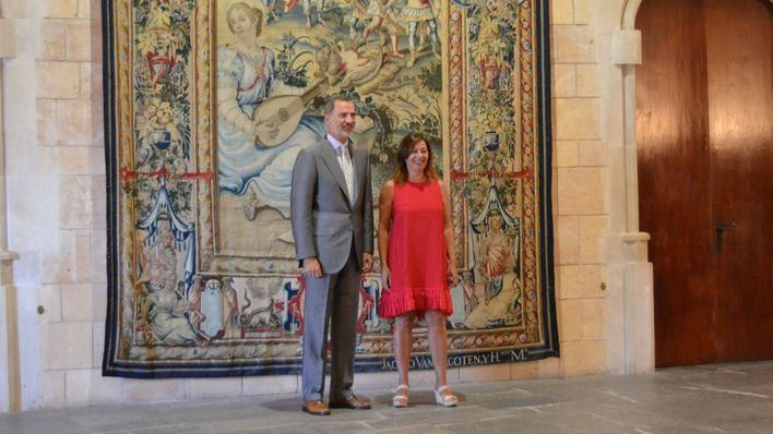 Felipe VI recibe a las principales autoridades de Baleares