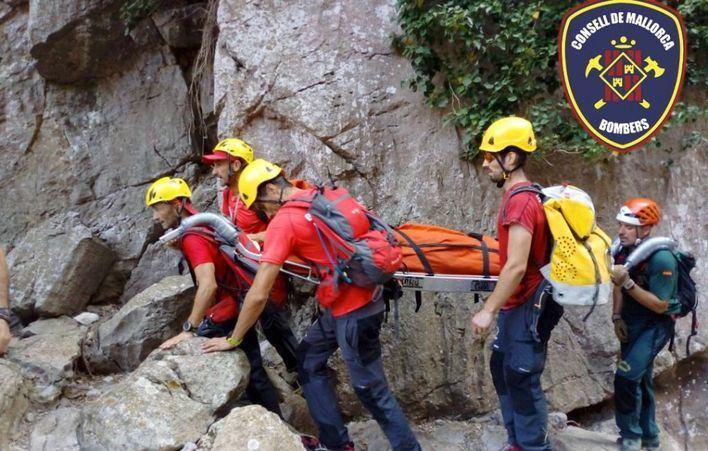 Rescate de montaña en Cala Bóquer y el Torrent de Pareis