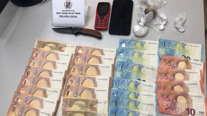 Arrestado un hombre en Ibiza con cocaína, marihuana y dinero en efectivo