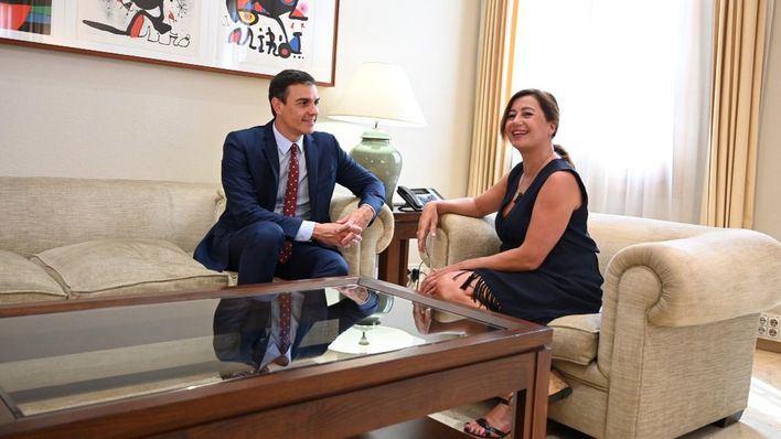 Armengol pide a Sánchez que el bloqueo político no afecte a Baleares