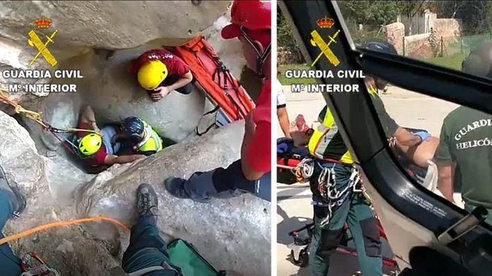 La Guardia Civil realiza dos complejos rescates en la Serra de Tramuntana