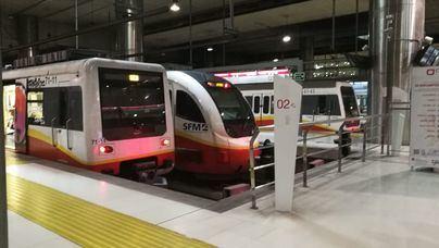Aumentan un 9,3 por ciento los usuarios del metro de Palma