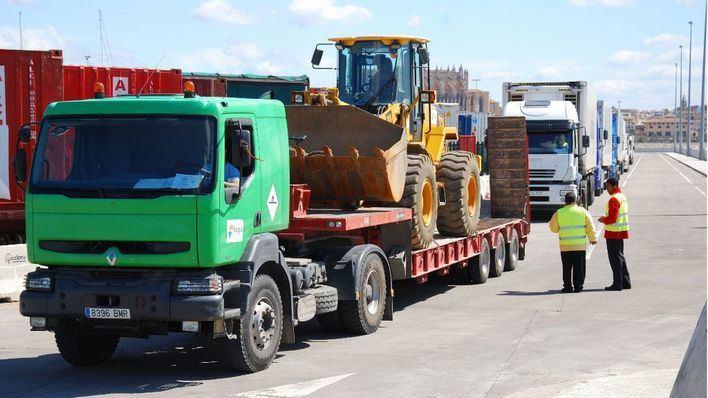 El tráfico de mercancías aumenta un 3 por ciento en los puertos de Baleares