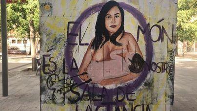 Ataque vandálico a un mural feminista en la Plaza del Tubo