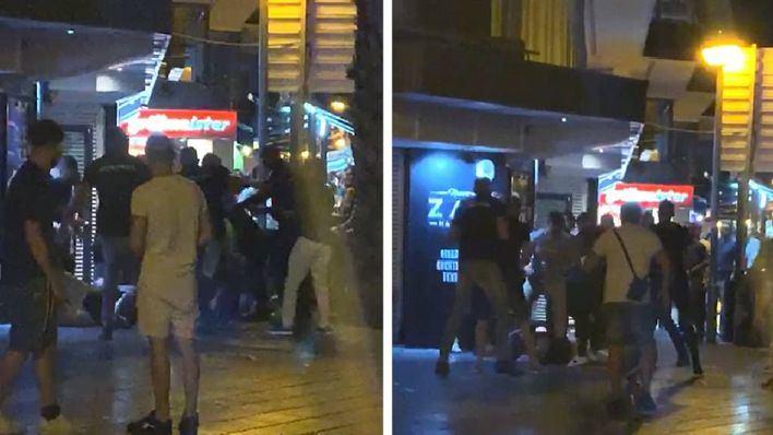 Un grupo de porteros golpea violentamente a un turista en el Paseo Marítimo de Palma