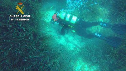 La Guardia Civil localiza un cepo y un ancla de época romana en aguas de Mallorca