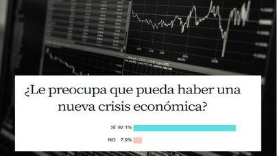 El 92 por ciento de lectores, preocupados ante la posibilidad de una nueva crisis económica