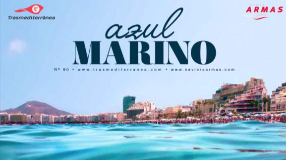 Canarias y el 'fast ferry' más moderno del mundo, el Volcán de Tagoro, protagonistas de la revista 'Azul Marino'
