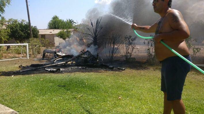 La Guardia Civil toma declaración a testigos del accidente aéreo