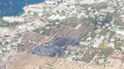 Un incendio quema 1,35 hectáreas en Sant Josep