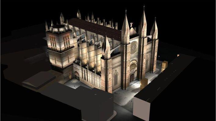La nueva iluminación de la Seu y el Palacio de la Almudaina costará dos millones de euros