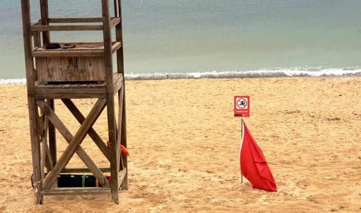 Cerradas todas las playas de Palma por las intensas lluvias
