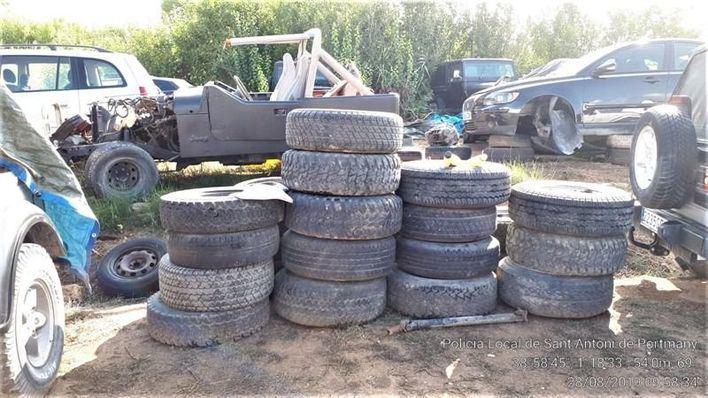 Desmantelado un taller clandestino de vehículos en Sant Antoni