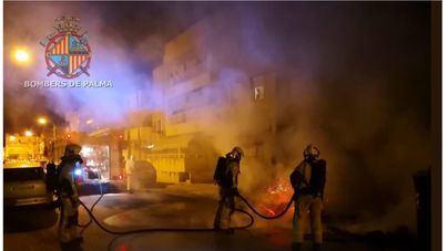 Arde un contenedor en Palma
