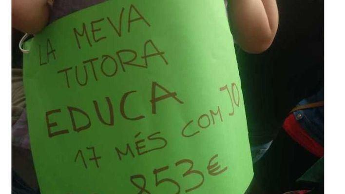 Nuevo acto de protesta de los trabajadores de las 'escoletes'