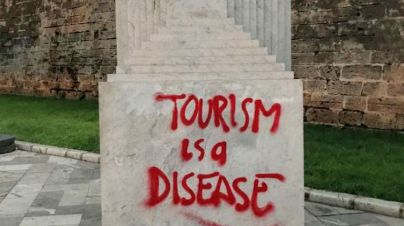 Última pintada turismofóbica de Palma: