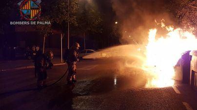 Arde un contenedor en la calle Son Malferit de Palma