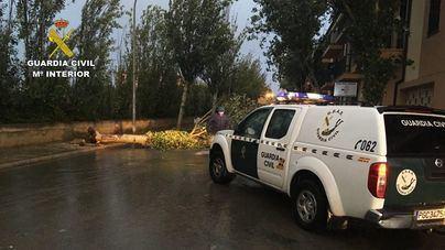La Guardia Civil auxilia a 17 personas en Mallorca por el temporal