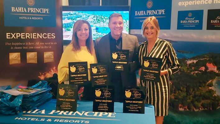 Bahia Principe Hotels & Resorts recibe siete premios Golden Apple