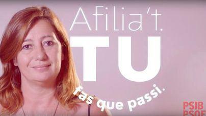 Armengol protagoniza un vídeo para animar a los ciudadanos a afiliarse al PSOE