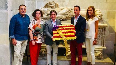 PP y Vox cumplen con la ofrenda floral a Jaume II