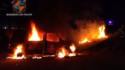 Arde un vehículo en Sa Casa Blanca