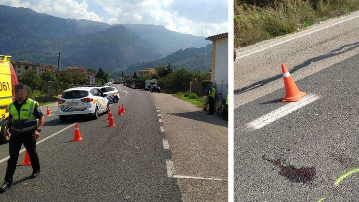 Un herido grave en un accidente entre un turismo y un ciclomotor en Sóller